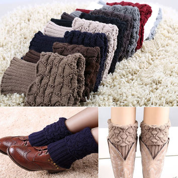 Crochet Knitted Boot Cuffs