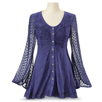 Violette Tunic - Women's Clothing & Symbolic Jewelry – Sexy, Fantasy, Romantic Fashions