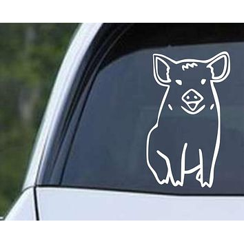 Pig (ver d) Die Cut Vinyl Decal Sticker