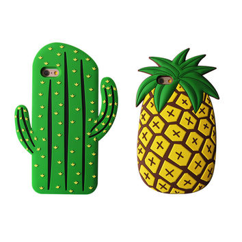 Cool 3D Original Pineapple Mobile Phone For Iphone 7 Se 5S 6 6S Plus Case Cover