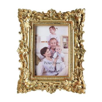 Giftgarden 4x6 Vintage Photo Frames Gold Picture Frame Wedding Gift Home Decor