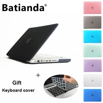 "Case for Apple Laptop,Rubberized(Matte) Hard Cover For Mac Book White 13"" MC 516 MC207 A1342 Free Keyboard Cover"