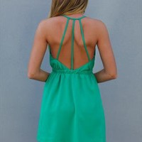 Green Kill The Star Dress Strappy Back Detail Dress from xeniaeboutique