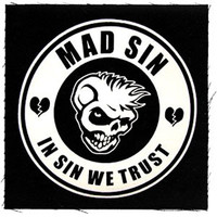 Mad Sin In Sin We Trust Cloth Patch Black