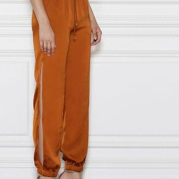 Side Split High Waist Jogger Pants