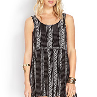 FOREVER 21 Free To Be Babydoll Dress Black/Cream