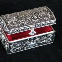 Brianna Silver Plated Jewelry Box