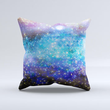 Glowing Space Texture Ink-Fuzed Decorative Throw Pillow