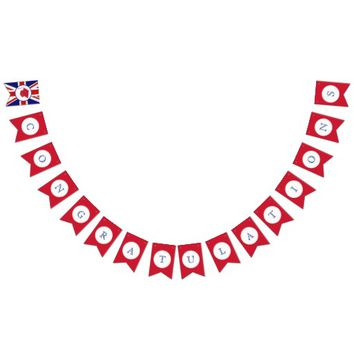 British Flag Congratulations Bunting Banner Bunting Flags