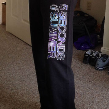 5SOS SWEATPANTS! Sale !!! Black sweatpants- Galaxy  -  5 seconds of summer Inspired