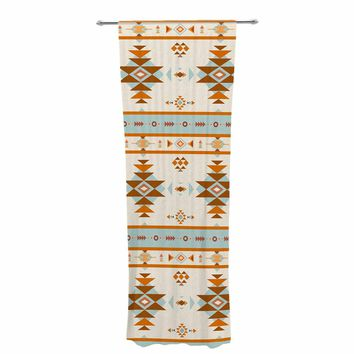 "afe images ""AFE Southwestern"" Multicolor Ethnic Tribal Digital Illustration Decorative Sheer Curtain"