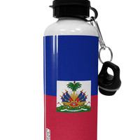 Haiti Flag AOP Aluminum 600ml Water Bottle All Over Print