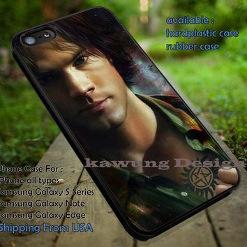 Sam Winchester with Anti Possession Tattoo Supernatural iPhone 6s 6 6s+ 5c 5s Cases Samsung Galaxy s5 s6 Edge+ NOTE 5 4 3 #movie #supernatural #superwholock #sherlock #doctorWho dt