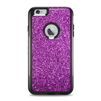 The Purple Glitter Ultra Metallic Apple iPhone 6 Plus Otterbox Commuter Case Skin