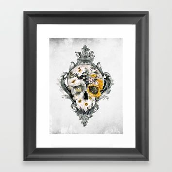 Skull Still Life Framed Art Print by RIZA PEKER