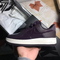 Best Online Sale Nike Air Force 1 Low Patent Leather Purple Sport Shoes Snaker AH6827-600