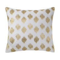 Abstract Gold Dot Throw Pillow