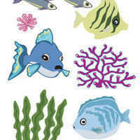 """Touch of Jolee's Sticker Fish & Coral - 7"""" x 2.5"""""""