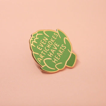 Artichoke Pin, Hard Enamel, Enamel Pin, Lapel Pin, Pin Badge, Flair, Brooch, Badge, Collar Pin