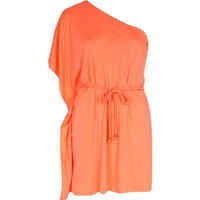 coral one shoulder dress - cover-ups - swimwear / beachwear - women - River Island