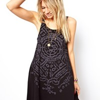 ASOS Swing Dress With Star Necklace Print at asos.com