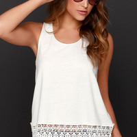 Jack by BB Dakota Nieve Cream Lace Top