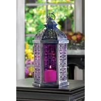 Enchanted Fuchsia Candle Lantern