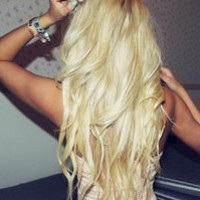 "24"" Inch Platinum Blonde Clip In Hair Extensions"