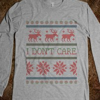 I DON'T CARE | UGLY CHRISTMAS SWEATER