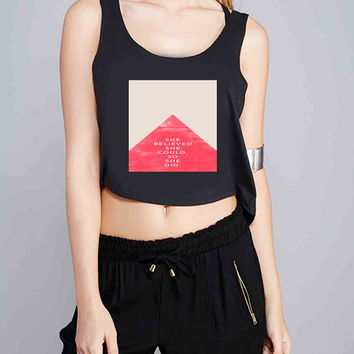 She Believed She Could So She Did Triangle for Crop Tank Girls S, M, L, XL, XXL *NP*