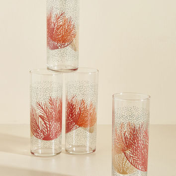 Coral Support Glass Set | Mod Retro Vintage Kitchen | ModCloth.com