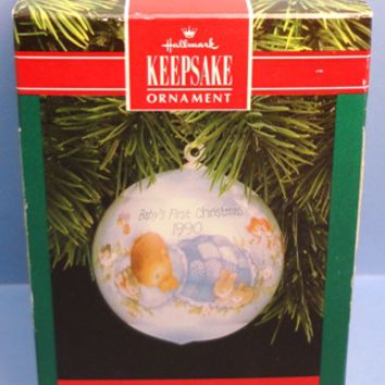 1990 Baby's First Christmas (boy) Hallmark Retired Ornament