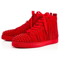 Christian Louboutin CL Man Fashion Casual Shoes Men Fashion Boots fashionable Casual leather Breathable Sneakers Running Shoes Sneakers