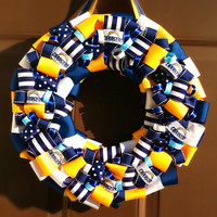 Chargers Ribbon Wreath San Diego NFL Football sports