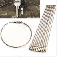 10PCS/set Stainless Steel Wire Keychain Cable Key Ring for Outdoor Hiking = 1669361604