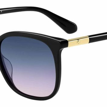Kate Spade - Caylin S 54mm Black Sunglasses / Blue Gradient Lenses