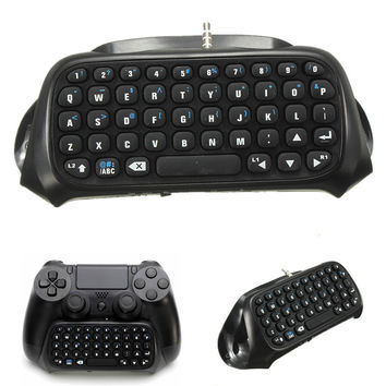 Hot Sale 1Pc Wireless Bluetooth Chatpad Message Keyboard for Sony for PlayStation 4 for PS4 Controller Black