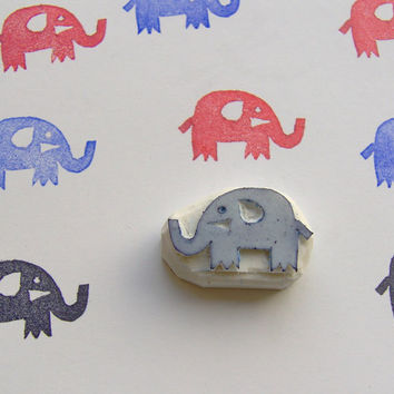 Elephant stamp, elephant rubber stamp, animal stamp, baby shower stamp, style stamp, cute stamp, rubber stamp, elephant, card making, diy