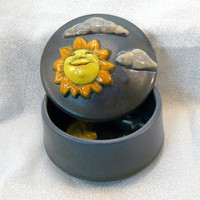 Ceramic Keepsake Box - Day and Night