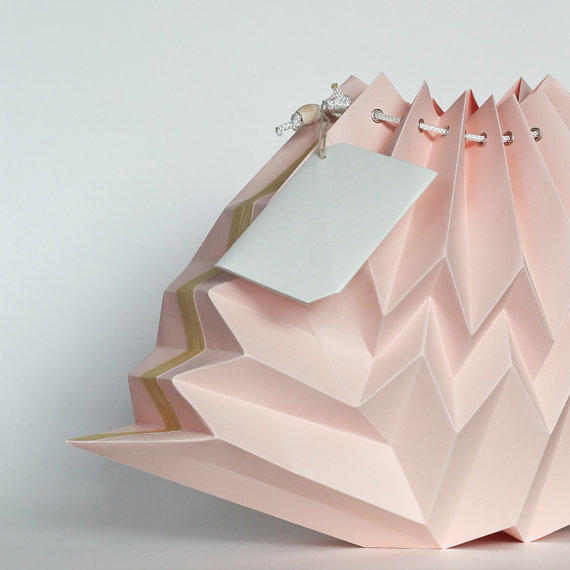 Blush origami cloud lampshade geometric from nana zoolan aloadofball