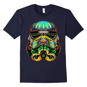 Star Wars Stormtrooper Ornate Sugar Skull Graphic T-Shirt