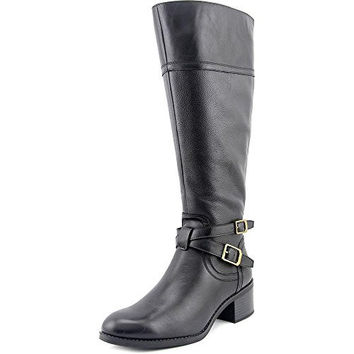 Franco Sarto Lapis Wide Calf Women Round Toe Leather Knee High Boot