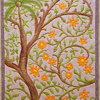 Flowering Vine Quilted Wall Hanging