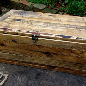 Reclaimed Wood Storage Box