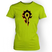 Something Geeky PP - Women's Horde Black And Red Logo T-Shirt - Inspired By World Of Warcraft