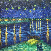 Starry Night Over the Rhone I Canvas Wall Art