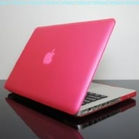 "TopCase PINK Rubberized Crystal See Thru Satin Hard Case Cover for Macbook Pro 13-inch 13"" (A1278/with or without Thunderbolt) -NOT for retina display- with TopCase Mouse Pad:Amazon:Computers & Accessories"