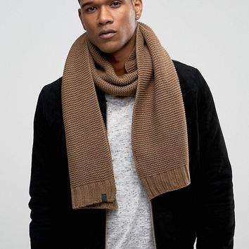 Selected Homme Scarf in Textured Knit at asos.com