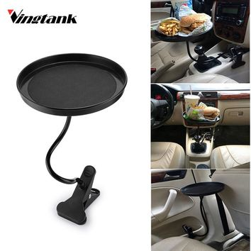 Vingtank Universal Car Food Drink Cup Tray  Coffee Table round Table rotating Car Mount Tray Tablet Clamp Holder Organizer