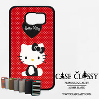 hello kitty red Samsung Galaxy S6 Edge Case CaseClassy